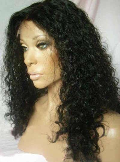 "10"" Curly Indian Remy Full Lace Wig"