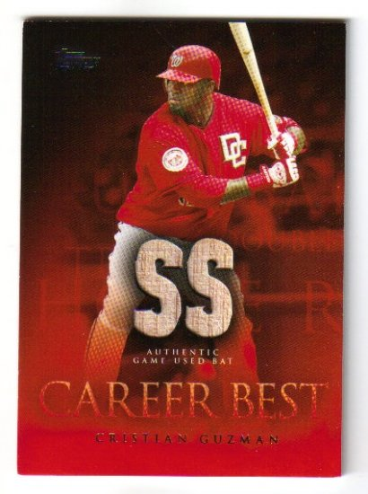 2009 Topps Career Best Relics #CGG Cristian Guzman Bat Nationals