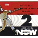 2007 Topps Generation Now Mike Napoli 3-card LOT Angels