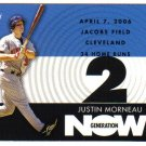 2007 Topps Generation Now Justin Morneau 4-card LOT Twins