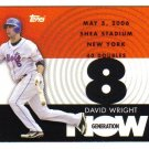 2007 Topps Generation Now David Wright 4-card LOT Mets