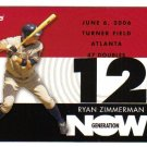 2007 Topps Generation Now Ryan Zimmerman 5-card LOT Nationals