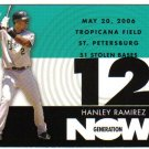 2007 Topps Generation Now Hanley Ramirez 6-card LOT Marlins