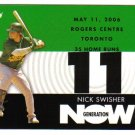2007 Topps Generation Now Nick Swisher 3-card LOT Athletics