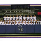 2006 Topps Colorado Rockies 19 card team SET