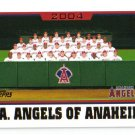 2005 Topps Anaheim Angels 29 card team SET
