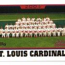 2005 Topps St. Louis Cardinals 34 card team LOT
