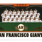 2005 Topps and Update San Francisco Giants 31 card team SET