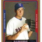 2005 Topps Gold Update UH58 Chris Young Rangers