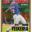 2005 Topps Gold Update UH147 Mark Teixeira Rangers