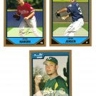 2007 Bowman Prospects Gold 3-card LOT