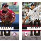 2007 Fleer Perfect Ten 2 card LOT