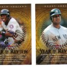 2007 Fleer Year in Review 2 card LOT