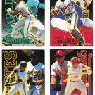 1994 Fleer Rookie Sensations 4 card LOT