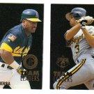 1995 Fleer Team Leaders 2 card LOT