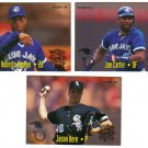 1995 Fleer All-Stars 3 card LOT