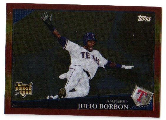 2009 Topps Red Hot Rookie Redemption RHR8 Julio Borbon Rangers