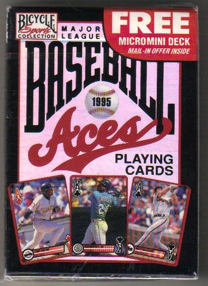 1995 US Playing Cards Baseball Aces Unopened Deck