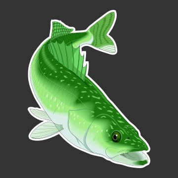 Walleye Fishing Decal