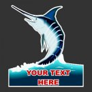Custom Jumping Marlin Fishing Decal