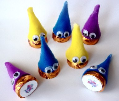 Hershey's Chocolate KISS GNOMES!  Personalized  Party favors!