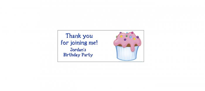 30 CUPCAKE Lollipop, Sucker Tags Labels, BIRTHDAY PARTY FAVORS.