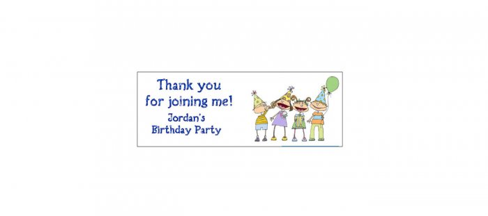 30 PARTY KIDS Lollipop, Sucker Tags Labels, BIRTHDAY PARTY FAVORS.