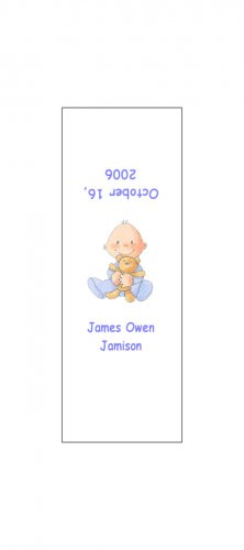 30 Baby Announcement Shower Candy Bar Wrappers Hershey's Nugget Miniature Labels Party Favors Boy
