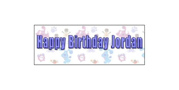 30 BIRTHDAY CRAYON Blues Clues kid's Party Favors Wrappers Labels,
