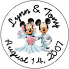 108 Mickie and Minnie Mouse WEDDING Bridal Shower Hershey's Chocolate Kiss Labels Party Favors #15