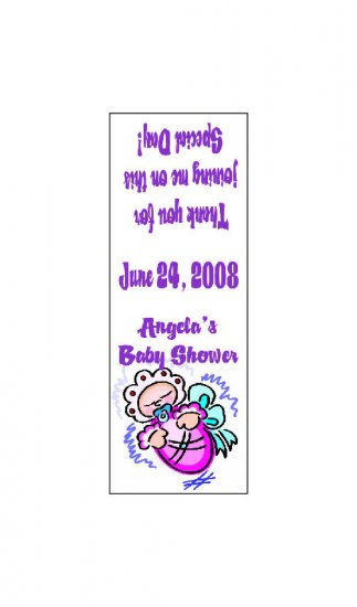 30 Baby Shower TIC TAC MINTS Wrappers Labels Party Favors