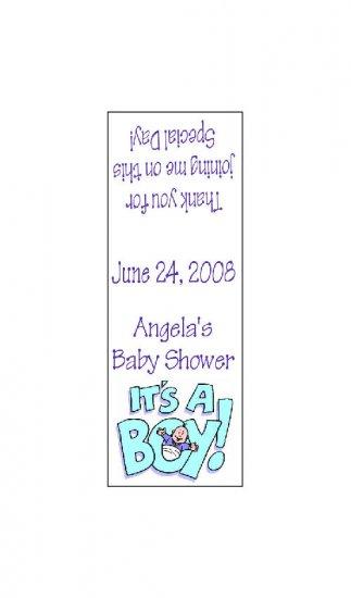 30 TIC TAC MINTS Wrappers Blue Boy Baby Shower  Labels Party Favors