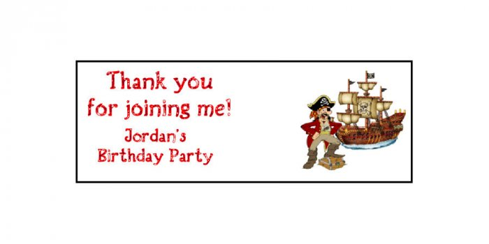30 Pirate Theme Lollipop, Sucker Tags Labels, BIRTHDAY PARTY FAVORS