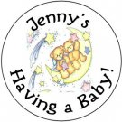 108 Baby Shower Teddy Bear Twins Hershey's Chocolate Personalized Kiss Labels Party Favors #21