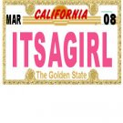 30 CALIFORNIA License Plate GIRL Baby Shower Candy Bar Wrappers Hershey's Nugget Labels Party Favors