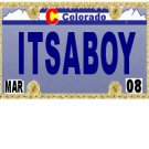 30 COLORADO License Plate BOY Baby Shower Candy Bar Wrappers Hershey's Nugget Labels Party Favors