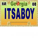 30 GEORGIA License Plate BOY Baby Shower Candy Bar Wrappers Hershey's Nugget Labels Party Favors
