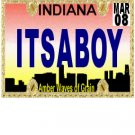 30 INDIANA License Plate BOY Baby Shower Candy Bar Wrappers Hershey's Nugget Labels Party Favors