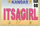 30 KANSAS License Plate GIRL Baby Shower Candy Bar Wrappers Hershey's Nugget Labels Party Favors