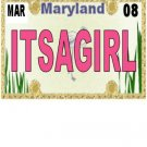 30 MARYLAND License Plate GIRL Baby Shower Candy Bar Wrappers Hershey's Nugget Labels Party Favors