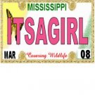 30 MISSISSIPPI  License Plate GIRL Baby Shower Candy Bar Wrappers Hershey Nugget Labels Party Favors