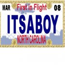 30 NORTH CAROLINA License Plate BOY Baby Shower Candy Bar Wrappers Nugget Labels Party Favors