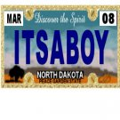 30 NORTH DAKOTA License Plate BOY Baby Shower Candy Bar Wrappers Nugget Labels Party Favors