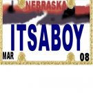 30 NEBRASKA License Plate BOY Baby Shower Candy Bar Wrappers Hershey's Nugget Labels Party Favors