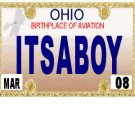 30 OHIO License Plate BOY Baby Shower Candy Bar Wrappers Hershey's Nugget Labels Party Favors