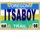 30 OREGON License Plate BOY Baby Shower Candy Bar Wrappers Hershey's Nugget Labels Party Favors