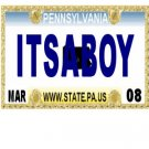 30 PENNSYLVANIA License Plate BOY Baby Shower Candy Bar Wrappers Hershey Nugget Labels Party Favors