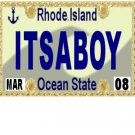 30 RHODE ISLAND License Plate BOY Baby Shower Candy Bar Wrappers Hershey Nugget Labels Party Favors
