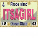 30 RHODE ISLAND License Plate GIRL Baby Shower Candy Bar Wrappers Hershey Nugget Labels Party Favors
