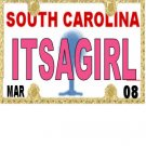 30 SOUTH CAROLINA License Plate GIRL Baby Shower Candy Bar Wrappers Nugget Labels Party Favors